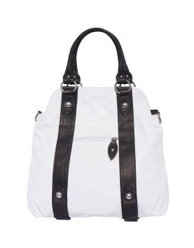 Zoe leather shoulder bag - White