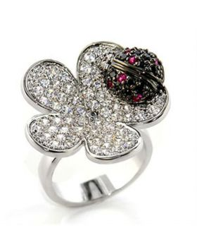 Ring Brass Rhodium + Ruthenium AAA Grade CZ Multi Color