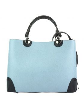 Irma leather Handbag - Light Cyan
