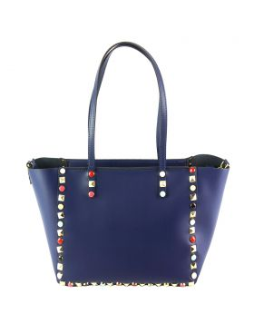 Tina leather Handbag - Dark Blue