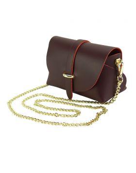 Martina Mini leather bag - Bordeaux