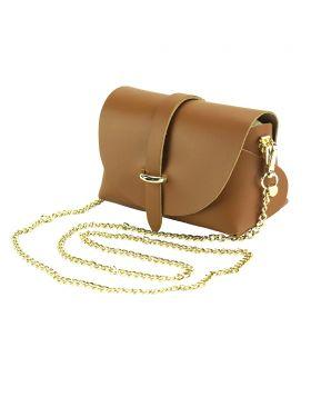 Martina Mini leather bag - Tan