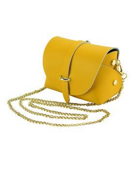 Martina Mini leather bag - Yellow