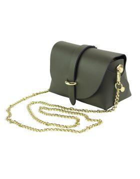 Martina Mini leather bag - Grey