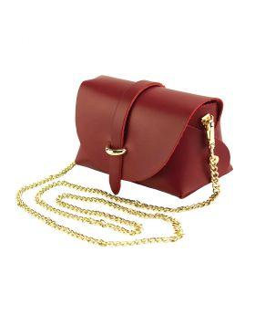 Martina Mini leather bag - Red
