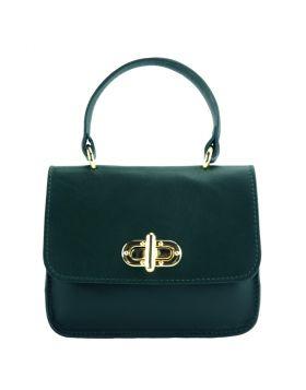 Virginia leather Handbag - Dark Green