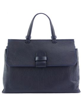 Donatella GM leather Handbag - Blue