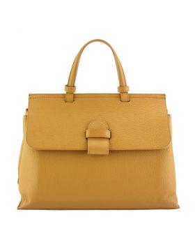Donatella leather Handbag - Tan