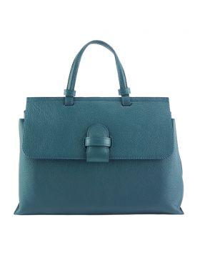 Donatella leather Handbag - Dark Turquoise
