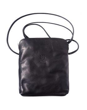 Mia GM leather crossbody bag - Black