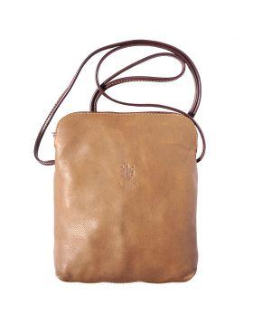 Mia GM leather crossbody bag - Taupe