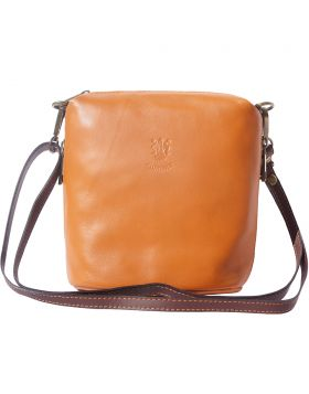 Felicità crossbody leather bag - Tan