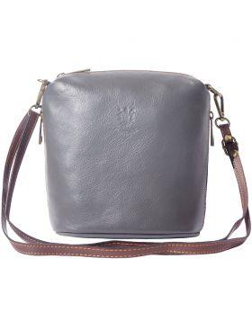 Felicità Soft crossbody leather bag - Grey/Brown