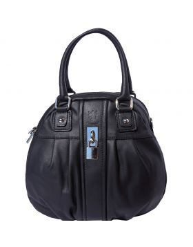 Bowling leather bag w/lock - Black