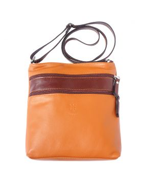 Chiara leather crossbody bag - Tan/Brown