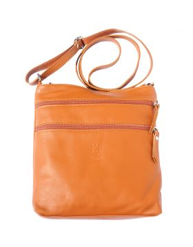 Chiara leather crossbody bag - Tan
