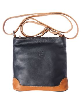 Felicita leather crossbody bag - Black/Tan