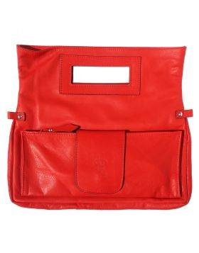 Giuliana Leather Handbag - Red
