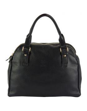 Pierluigi Leather Briefcase - Black