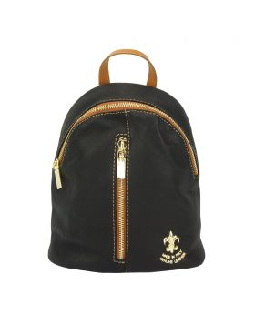 Lorella leather backpack - Black/Tan