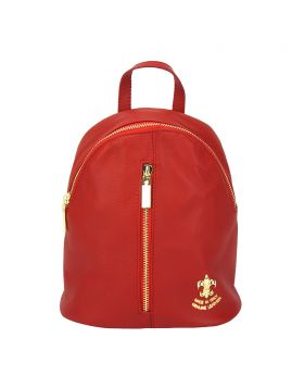 Lorella leather backpack - Red