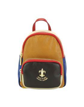 Alessia leather Backpack - Tan/Black/Beige