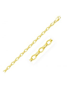 4.6mm 14k Yellow Gold Oval Rolo Chain