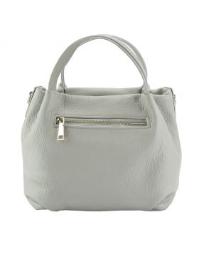 Sefora leather Handbag - Grey