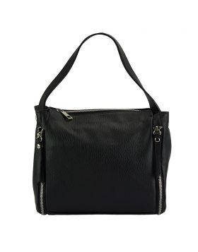 Giuseppina leather Handbag - Black
