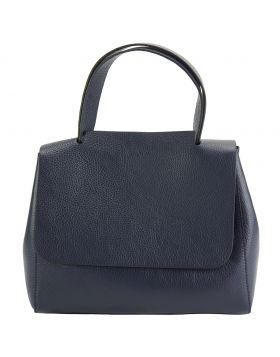 Gaia leather handbag - Blue