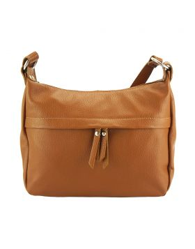 Delizia leather shoulder bag - Tan