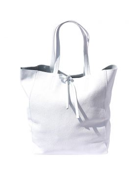 Babila leather bag - White