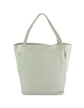 The Mélie leather bag - Grey