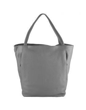 The Mélie leather bag - Dark Grey