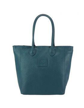 Iona leather bag - Dark Turquoise