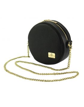 Lucrezia Crossbody leather bag - Black