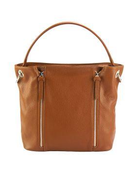 Silvia leather bag - Tan