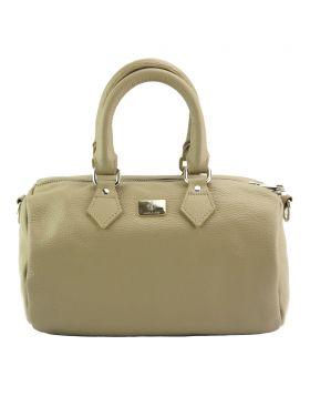 Moira T Leather handbag - Light Taupe