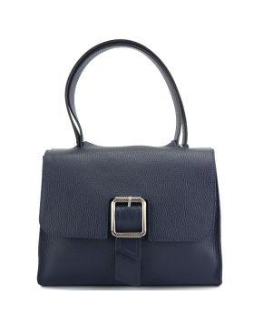 Casimira leather Handbag - Blue