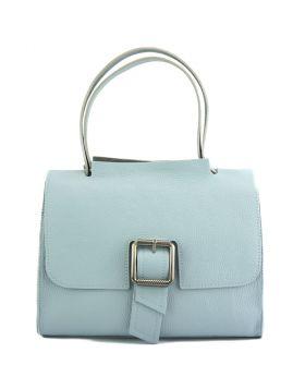 Casimira leather Handbag - Light Cyan