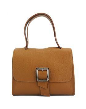 Casimira leather Handbag - Tan