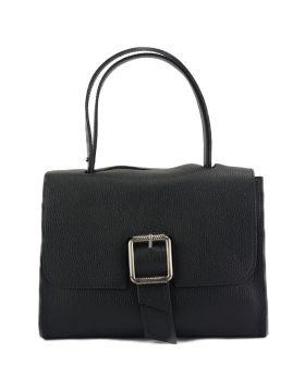 Casimira leather Handbag - Black