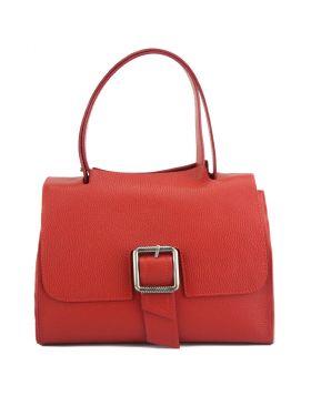 Casimira leather Handbag - Red