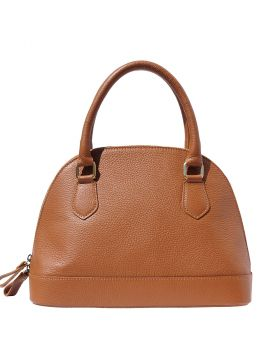 Bowling leather bag - Tan
