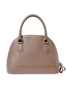 Bowling leather bag - Dark Taupe