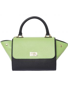 Silvana leather bag - Green/Blue