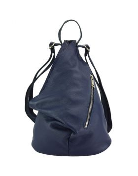 Clapton Backpack in Supple small-grained leather - Blue
