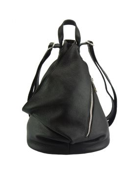 Clapton Backpack in Supple small-grained leather - Black