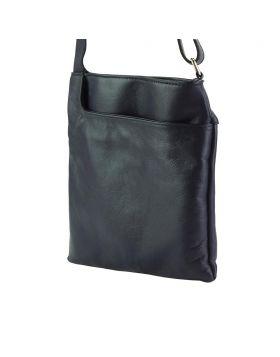 Gioia Crossbody leather bag - Blue