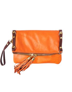 Giorgia GM leather clutch - Orange